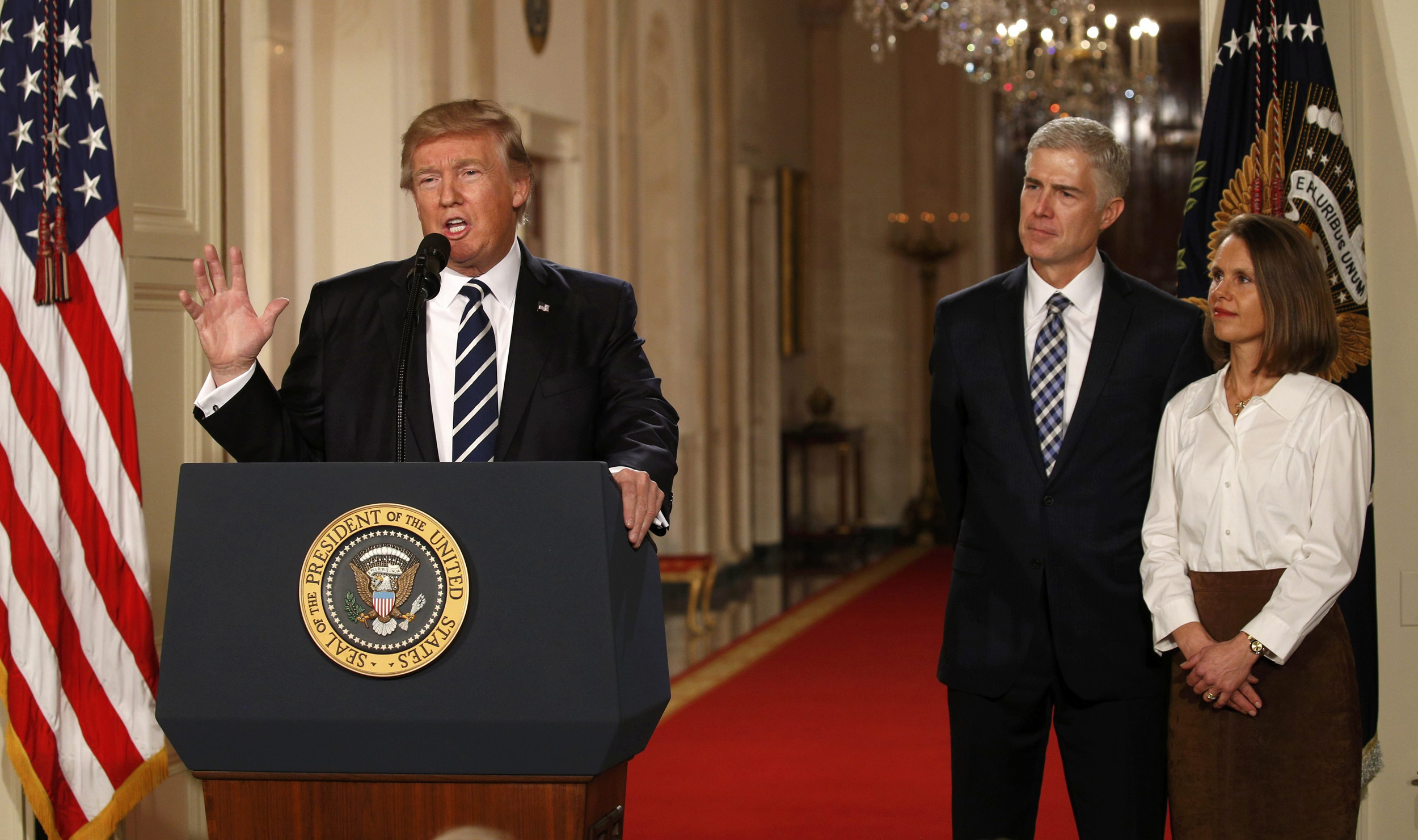 Image: U.S. President Donald Trump announces his nomination of Neil Gorsuch to be an associate justice of the U.S. Supreme Court in Washington