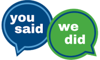 You Said...We Did